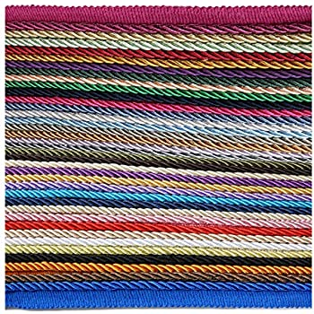 Neotrims High Strength Durable /& Versatile 6mm Silky Barley Twist Cord /& 16mm Flanged Insertion Piping Upholstery Crafts Trimming 36 Colors