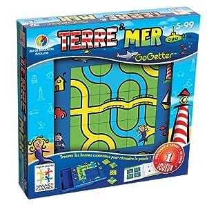 Smart Games - SG 002 - Jeu enfant  - Gogetter Terre Et Mer - Jeu De Réflexion Et De Logique