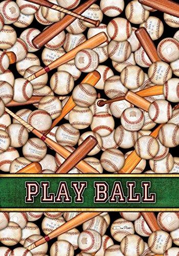 DIYCCY America 's Zeitvertreib 31,8x 45,7cm Deko Baseball Sport Play Ball Bat Garten Flagge