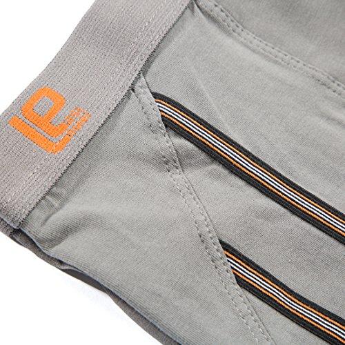 Lower East 6er Pack Herren Retro Boxershorts in verschiedenen Farben Grau (Grau)