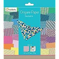 Avenue Mandarine - Carta per origami, 60 fogli, 20 x 20 cm, motivi geometrici