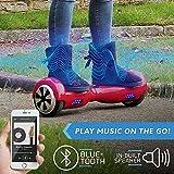 Bluefin Elektro Scooter E-Balance Skateboard 6.5 Zoll , Integrierte Bluetooth Lautsprecher & App , Leiser Motor , Für Kinder & Erwachsene , Samsung Batterie , UL 2272 & CE Getestet , Inkl. Tragetasche - 3