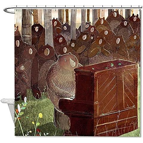 hanhaoki l' orso e il pianoforte da bagno Decro Tenda da doccia impermeabile, #9, 66