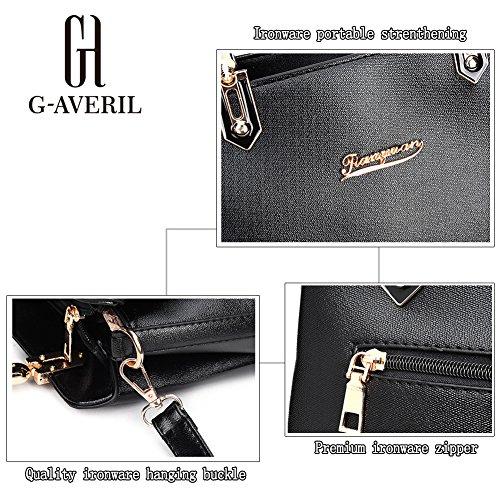(G-AVERIL) 2018 alta qualità PU pelle Donna borsa Designer Bag Fashion Borsa a Spalla Borse a Mano blu
