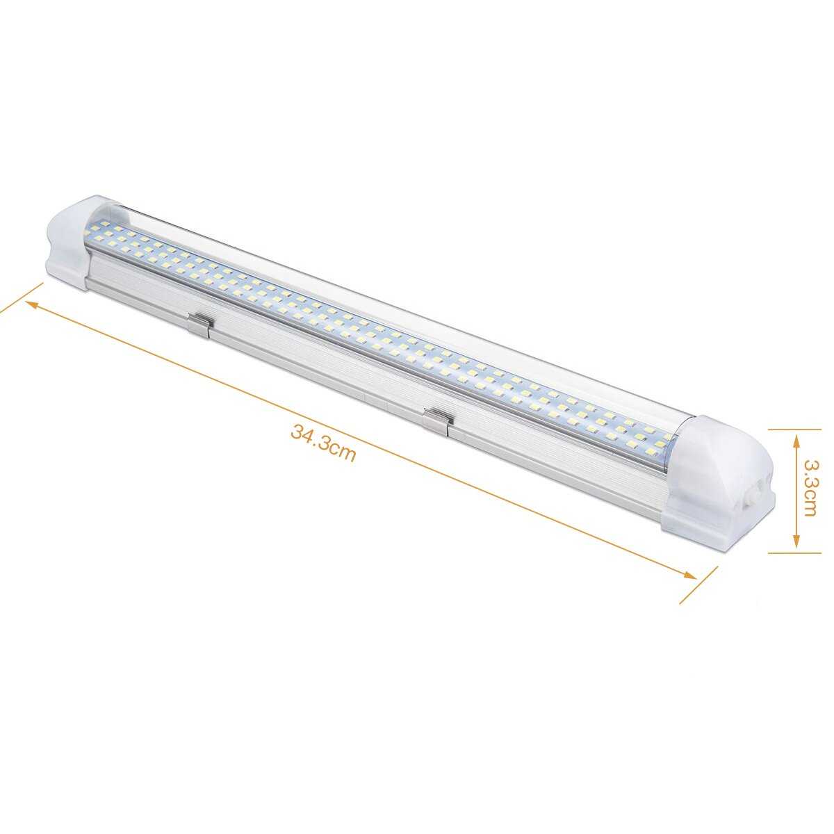 Luci Interne 12V LED Strip Lights 108 LEDs Bar Lampada Illuminazione Universale DC12V 4W per Auto Camper Van Bus Caravan Boat Motorhome Cucina Bagno 340 MM ON//off Interruttore 72LED