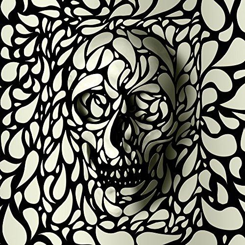 Apple iPhone 5s Housse Étui Protection Coque Deep Skull Tête de mort Crâne Sac Downflip noir