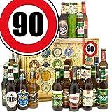 Geschenkideen für Männer zum 90. + Geschenk Box mit 24 Bieren der Welt und Deutschland + GRATIS Geschenk Karten + Bier-Bewertungsbogen + Bierset + Biergeschenk + Personalisierte Geschenk Box - 90 + Biergeschenk für Männer. Besser als Bier selber machen oder selbst brauen. Geburtstagsgeschenk GeburtstagsBiergeschenke 90. Geburtstag Geschenkideen Geburtstag Geschenk Ideen 90 Geburtstagsgeschenke Biergeschenke 90 Geburtstag Geschenkidee Freund zum 90.