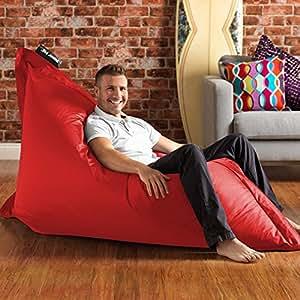 BAZAAR BAG ® - Giant Beanbag - Indoor & Outdoor Bean Bag - MASSIVE 180x140cm - GREAT for Indoor & Garden (Bright Red)