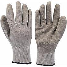 Térmico Builders guantes con palma de cruce de látex–, resistente a los pinchazos guantes grandes para completa protección de las manos con revestimiento de acrílico acabado, de punto muñeca. Equipo de protección Personal
