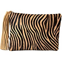 ZEBRA PANTHER CLUTCH Bolso By Texas Tribu.