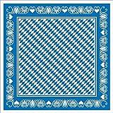 Socie Horeca Oktoberfest-Deko Tischdecke | Bavaria Raute blau | 80x80 cm 20 STK | Linclass® Airlaid | Wiesn Festzelt Bayrisch
