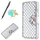 Uposao Housse iPhone 5C Coque Crystal Bling Gliter Sparkle Paillette Diamants Coque...