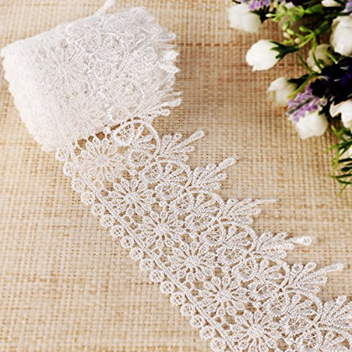10yards-VINTAGE-LACE-RIBBON-TRIM-76CM-Width-BRIDAL-Flowers-Gifts-craft-invitations-cards