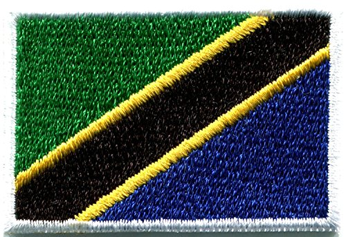 Flagge von Tansania Ensign East Afrika bestickt Aufnäher Patches Applikation - Patch Tansania
