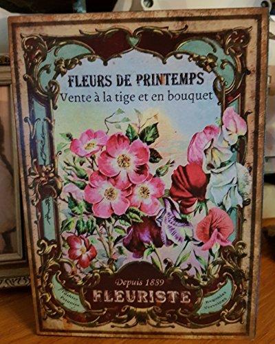 Antic Line Plaque Fleurs de Printemps 21 * 15 cm
