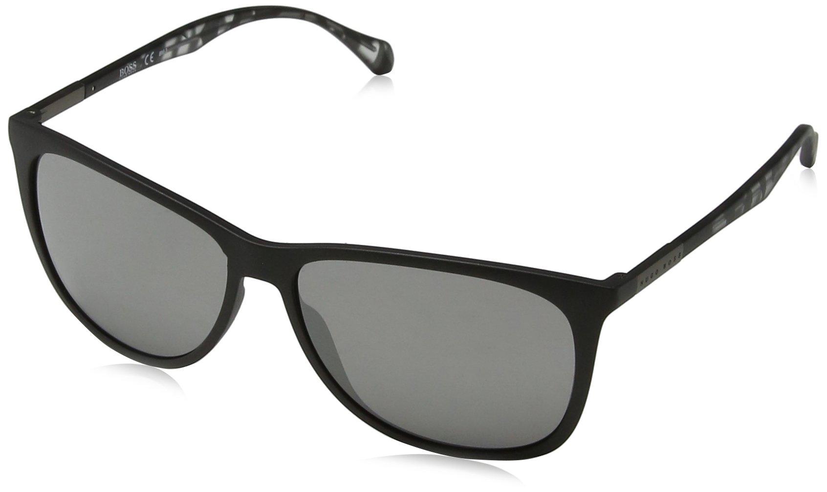 BOSS Hugo 0823/S T4 YV4, Gafas de Sol Unisex-Adulto, Negro Greyhvn/Black FL, 58