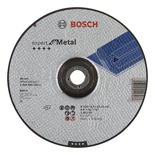 Bosch 2608600225 Schleifzubehör Trennscheibe 230 x 2,5 mm f.Metall, ge