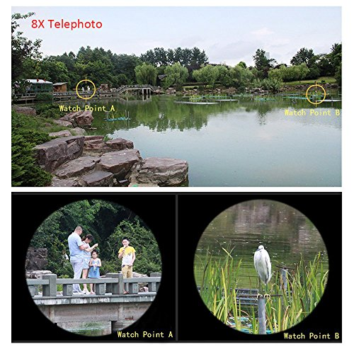 Apexel 4-in-1-Weitwinkel-Makro- und 8 x Teleobjektiv + Rückschale für iPhone 5 / 5S schwarz