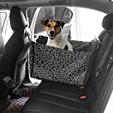 Dog Car Seat Covers,Topist Super Durable Soft Padded Waterproof Fabric Pet Seat Covers Travel Hammock with Pet Dog Car Seat Belt Universal Design for All Cars,Trucks,SUVs(Black)