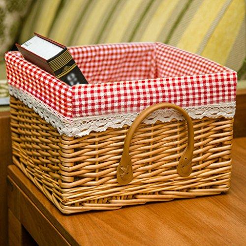 BBYE Boîte De Finition De Rotin De Saule / Tissu Pastoral Panier D'admission / Garde-robe Panier De Stockage De Bureau / Boîte De Rangement De Cuisine ( couleur : # 2 )