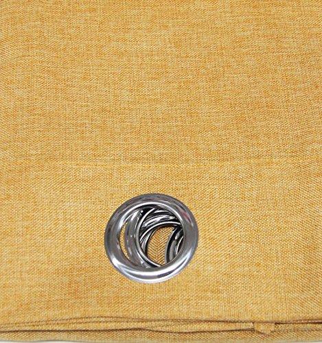 Russo tessuti telo tenda mastro pannello singolo tendone canapone leo juta coprente 130x270 cm-giallo ocra
