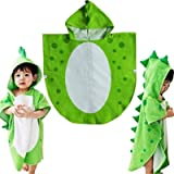 Children Bath Towel Robe Kids Hooded Beach Swimming Poncho Dinosaur Pattern