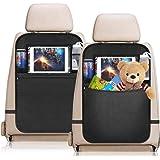 YZCX 2 Pezzi Protezione Sedili Auto Bambini Proteggi Sedile Organizzatore Sedile Posteriore Impermeabile con Supporto Traspar