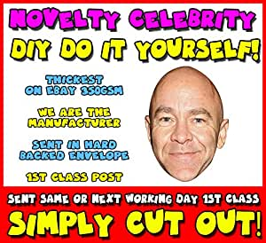 DIY - Do It Yourself Face Mask - Dominic Littlewood Celebrity Face Mask