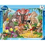 Ravensburger - 06398 - Puzzle Enfant avec Cadre - Livre de La Jungle - Mowgli et Baloo - 30 Pièces