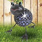 LED - Solarleuchte aus Metall Tiermotiv Garten Figur Terrasse Lampe Deko Außen, Figur:Frosch Fred
