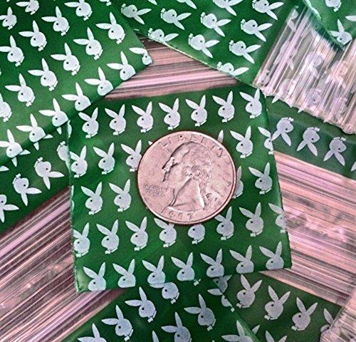 1000–3,8x 3,8cm Playboy Bunny Design Kunststoff Ziploc Baggies