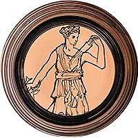 Artemis la diosa de la caza - Placa de cerámica decorada a mano diámetro cm 21.4 cm2.2-MADE en ITALIA Toscana Lucca,certificado.