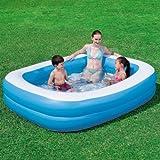 Blue Rectangular Family Pool - Planschbecken 201x150 cm