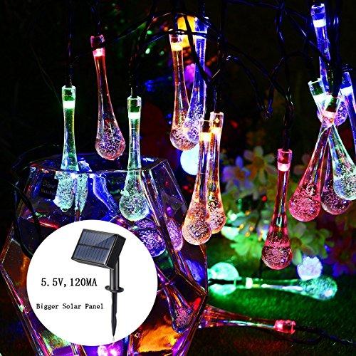 beleuchtung (8 Modi 1200mAh) mit USB-Port 30 LED 20 ft Wasserdichte dekorative Fee Lichter für Halloween, Parteien, Weihnachten Wasser Drop Lights (Halloween Latte)