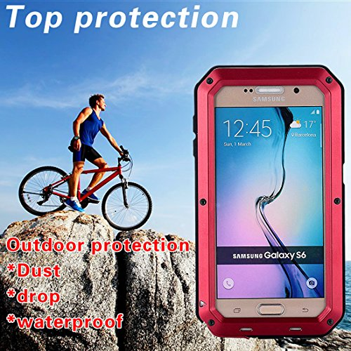MNBS Phone Coque Etui Housse Antichoc Militaire Heavy Duty Shock Proof Survivor Protective Housse Pour iPhone 6/6SRed Red 7