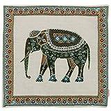 Luxbon Baumwolle Leinen Kissenbezug Kissen Fall Sofa Taille Throw Cover Pillowcase Huelle Couch Stuhl Auto Haus Deko 45 x 45 cm Tapestry Jacquard Retro indischer Elefant - 5