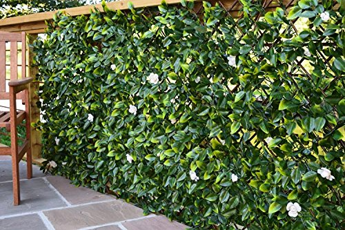 eXtreme® Instant Hedging Artificial Screening Fencing Realistic With Summer Flowers - 2M x 1M - Can Be Extended!