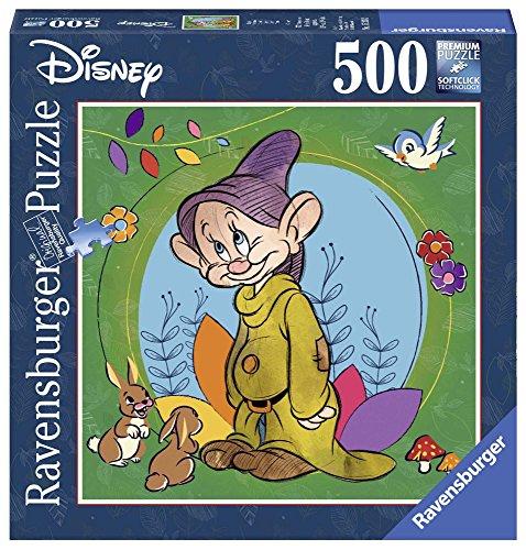 Ravensburger 15203 - Quadratisches Puzzle, Disney Classic Collection schneeweiß und die 7 Zwerge - Welpe, 500 Teile