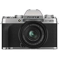 "Fujifilm X-T200 24.2 MP Mirrorless Camera with XC 15-45 mm Lens (APS-C Sensor, Electronic Viewfinder, 3.5"" Vari-Angle…"