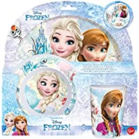 Frozen Set Desayuno melamina sin Orla 3 Piezas (STOR 86890)