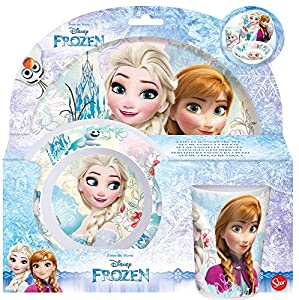 Frozen- Set Desayuno melamina sin Orla 3 Piezas (STOR 86890)