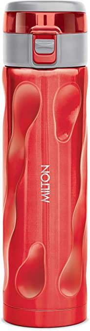 Milton Stylish-500 Thermosteel Water Bottle, 500ml, Red