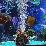VIDOO Vulkan Shape Aquarium Fischbehälter Dekor Sauerstoff Pumpe Luftblasen Stein Luftpumpe Antrieb Fisch Tank-L