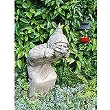 Vidroflor Gartenfigur | Schleicher DICK| H: 60 cm | 40 kg | ohne Laterne | ausmassivem Steinguss