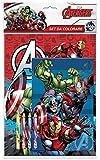 Hasbro Avengers- Album con Pastelli, SOL0236