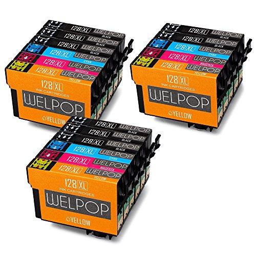 WELPOP T128 XL,Compatibile Cartucce Epson T1285,T1281 T1282 T1283 T1284 per Epson SX235W SX125 S22 SX230 SX130 SX420W SX425W SX430W SX440W SX445W BX305F BX305FW (8 Nero,3 Ciano,3 Magenta,3 Giallo)