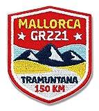 Club-of-Heroes 2er-Pack/Stick-Abzeichen Mallorca GR-221 Fernwanderweg/Marken-Patch für Kleidung und Rucksack/Applikation Aufnäher Aufbügler Bügelbild Flicken Sticker/Wappen