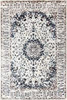 A2Z Rug Traditional Vintage Nain 1578 Collection Area Rugs Ivory 120x170 cm - 4x6 ft by Turkey