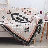 SANMULYH Alle Baumwolle Gewebt Decke Wandteppich Dekorativen Teppich 125 X 160 Cm