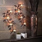Hashcart - dekorativer Wandschmuck, Kerzen-/Teelichthalter (Set mit 2Stück) 43,2cm